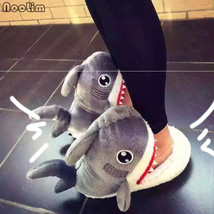 Slippers Soft Warm Shoes Indoor Women Home House Slip Cotton Shark Shape... - $30.99