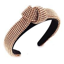 Rhinestone Headband for Women Knotted Bejewelled Elastic Headband Crysta... - $22.85