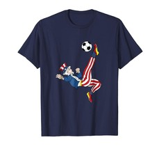 Uncle Shirts -   Uncle Sam Soccer American Flag T-Shirt Patriotic Merica Men - $19.95+
