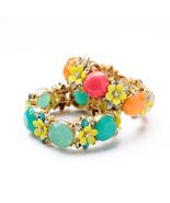 Imitated Jewelry Resin Chunky Orange Blue Bohemian Bracelet Wholesale Resin - $21.73