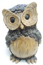 "Large 10"" Tall Resin Wood Design Funky Owl - $56.99"
