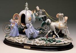Cinderella with Coach Capodimonte Laurenz Disney C.O.A. Original Box - $4,350.00