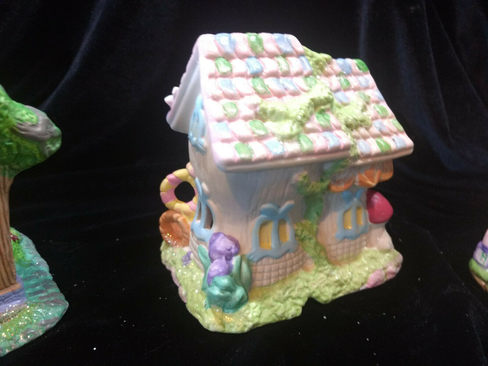 Hoppy Hollow Easter Village Ceramic Houses Set of Three (Lot #4) image 7