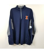University Of Illinois Fighting Illini Mens 1/4 Zip Shirt Jacket Large L... - $23.33