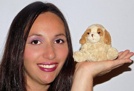 "Russ Luv Pets Phluffles Brown Tan Cream Dog Puppy Plush Stuffed Toy Lovey 4"" - $13.45"