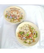 Lot of 2 Vintage Watkins Country Kids Dessert Plates Dad Mom 1991 No 5 &... - $19.79