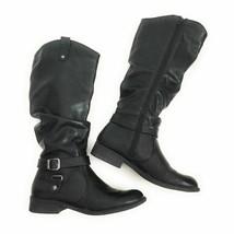 White Mountain Women's Size 8.5M Latigo Black Smooth Synthetic Boots - £11.38 GBP