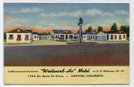 Westward Ho Motel US Highway 85 87 Denver Colorado linen postcard - $6.93