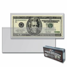 CASE (1000) BCW DELUXE CURRENCY HOLDER - REGULAR BILL - $117.53