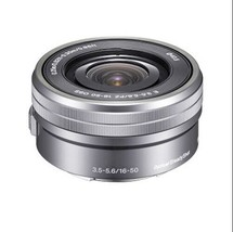 Sony SELP1650 16-50mm Power Zoom Camera Lens Silver Displayed - $107.80