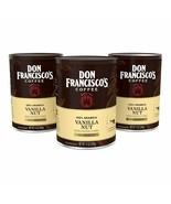 DON FRANCISCO'S VANILLA NUT GROUND COFFEE MEDIUM ROAST 12OZ (3 PACK) - $17.54