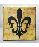 Stretched Canvas Wall Art Fleur de Lis Music Background Virgins Saints S... - $12.59