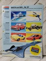 Monogram 1986 form 1pg advertisement kit roadster nomad starfighter (A10) - $9.90