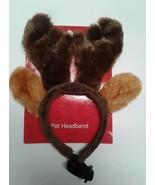 Brown Antlers pet headband New Moose Deer Dog Cat clothing - $5.00