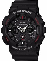 Casio G-Shock Analog-Digital Black Dial Men's Watch - GA-120-1ADR (G346) - $171.53