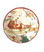 "Santa Sleigh Reindeer Melamine 11"" Dinner Plates set of 4 Heavyweight Ru... - $49.38"
