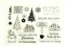 """Stamp Set """"Driving Home for Christmas"""" PERFECT FOR CARDMAKING!"""