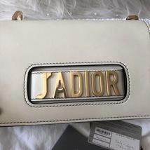 100% Authentic NEW Christian Dior J'ADIOR Calfskin Flap Bag White  image 4