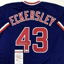 Autographed/Signed DENNIS ECKERSLEY Chicago Blue Baseball Jersey JSA COA... - $134.99
