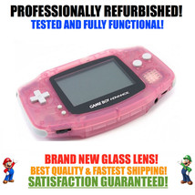*NEW GLASS SCREEN* Nintendo Game Boy Advance GBA Pink System - $39.55