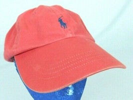 Polo Ralph Lauren Red Baseball Hat Cap Embroidered Blue Pony Strapback B... - $16.99