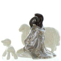 Hagen Renaker Specialty Nativity Shepherd Lamb & Sheep Ceramic Figurine Set image 6