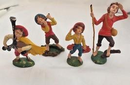 Vintage....Italian Farm Molded Plastic Figures Italy.....Set of 4 - $5.86