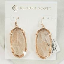 Kendra Scott Esme Rose Gold Dusted Glass Drop Dangle Earrings NWT - $83.66