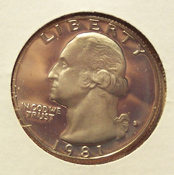1981-S Clad DCAM Proof Washington Quarter Typ1 PF65 #0355 - $3.19
