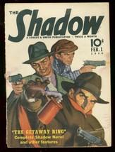The Shadow Feb 1 1940- Getaway Ring Street & Smith Pulp VG/FN - $218.25