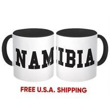 Namibia : Mug Flag College Script Calligraphy Country Gift Namibian Expat - $13.76+