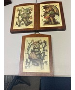 HUMMEL BOYS & GIRL WOOD WALL PLAQUES PICTURES SET OF 3 - $14.01