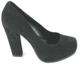 Steve Madden Sarrina Platform Pumps Womens Sz 7.5 Black Suede High Heel ... - $25.88
