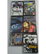 Lot of 6 Preowned Playstation 2 Games Sports, Racing, Action WCW NWO Mad... - $22.02