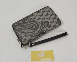 NWT Michael Kors Paisley Jet Set Large Multi-Function Phone Wallet in Bl... - £89.98 GBP
