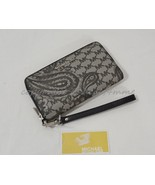 NWT Michael Kors Paisley Jet Set Large Multi-Function Phone Wallet in Bl... - $119.00