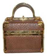 "1960's Ostrich Skin ""Train Purse"" by Lisette, New York. Vintage, Pre-Owned - $80.00"
