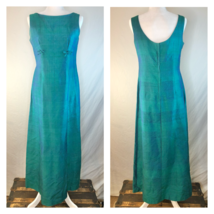 Vintage 1960s Iridescent Blue-Green Handmade Gown No Tags Gorgeous - $89.10