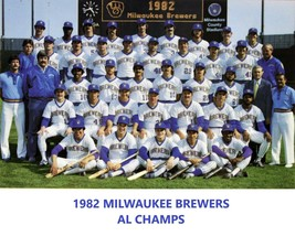 1982 MILWAUKEE BREWERS 8X10 TEAM PHOTO MLB BASEBALL PICTURE AL CHAMPS - $3.95