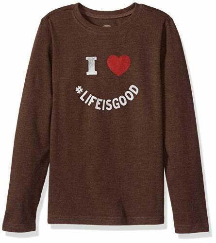 Small 5-6 Boy's Life is Good Tee T-Shirt Long Sleeve I Heart LIG Shirt NEW