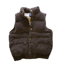 Gap Kids Corduroy Dark Tan Quilted Puffy Vest Snap Close Size Small 6 - 7 - $12.60