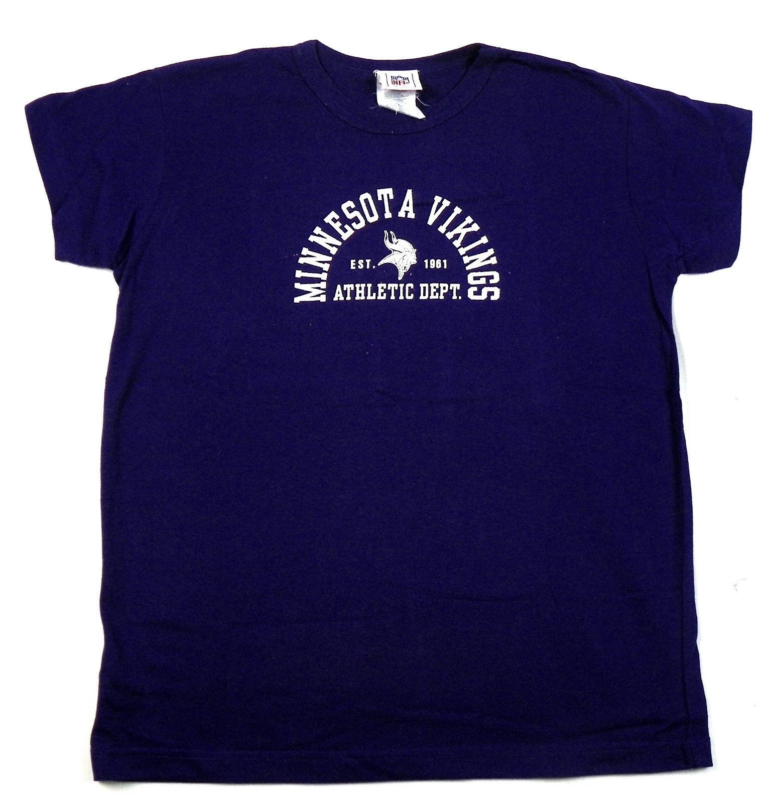 Minnesota Vikings Shirt Junior Women's Purple Sugar Logo Short Sleeve Tee