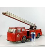 Texaco Fire Chief Fire Engine Truck Metal Toy Red Ladder Advertising Vtg... - $247.45