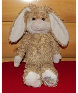 "Build-A-Bear Plush 14"" Tan & White Bunny Rabbit - Join The Fun Paw - $7.29"