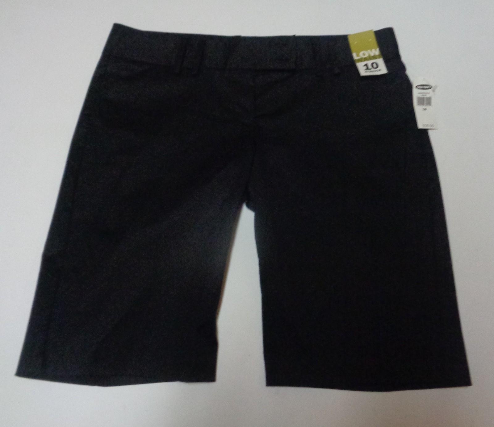 Women's Old Navy Black Shorts Stretch NWT Low Waist SZ 10