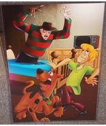 Scooby Doo vs Freddy Krueger Glossy Art Print 11 x 17 In Hard Plastic Sl... - $24.99