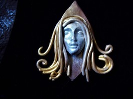 Girl with the Golden Hair brooch - $11.89