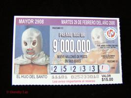 Lucha Libre Wrestling Santo Lottery Ticket - $14.99