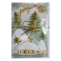SCOTT'S* 8pc Set SWIRLS+STARS Moon+Tree HOLIDAY NOTECARDS Envelope CHRIS... - $5.99