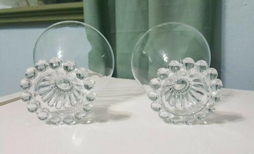 "Lot 2 Vintage Boopie Glass Candlewick Sherbet Dessert 3 1/2"" Cups Anchor Hocking"